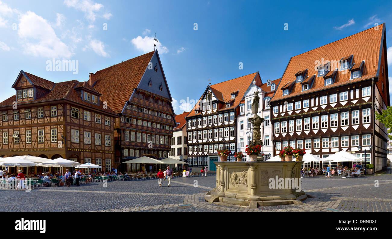 Marktplatz mit Metzgereien Guild Hall Hauser, Stadtschänke, Weber ...