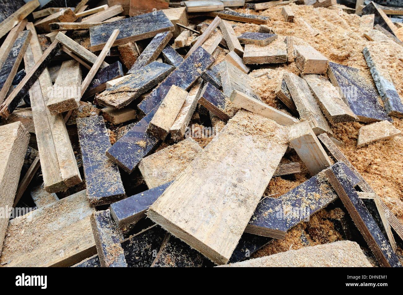 Holzreste Auf Der Baustelle Stockfoto Bild 62552785 Alamy
