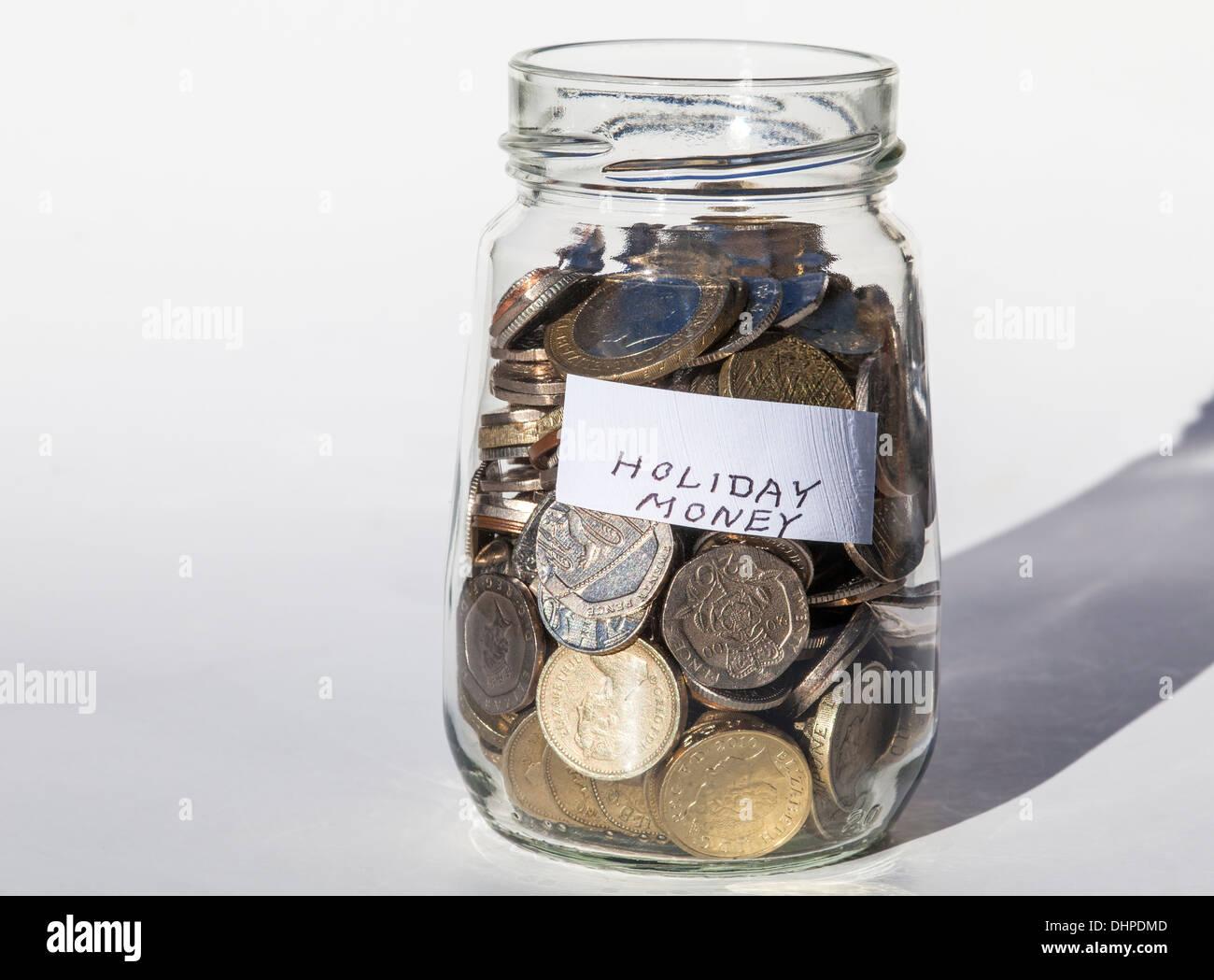 Urlaub Geld sparen Stockbild