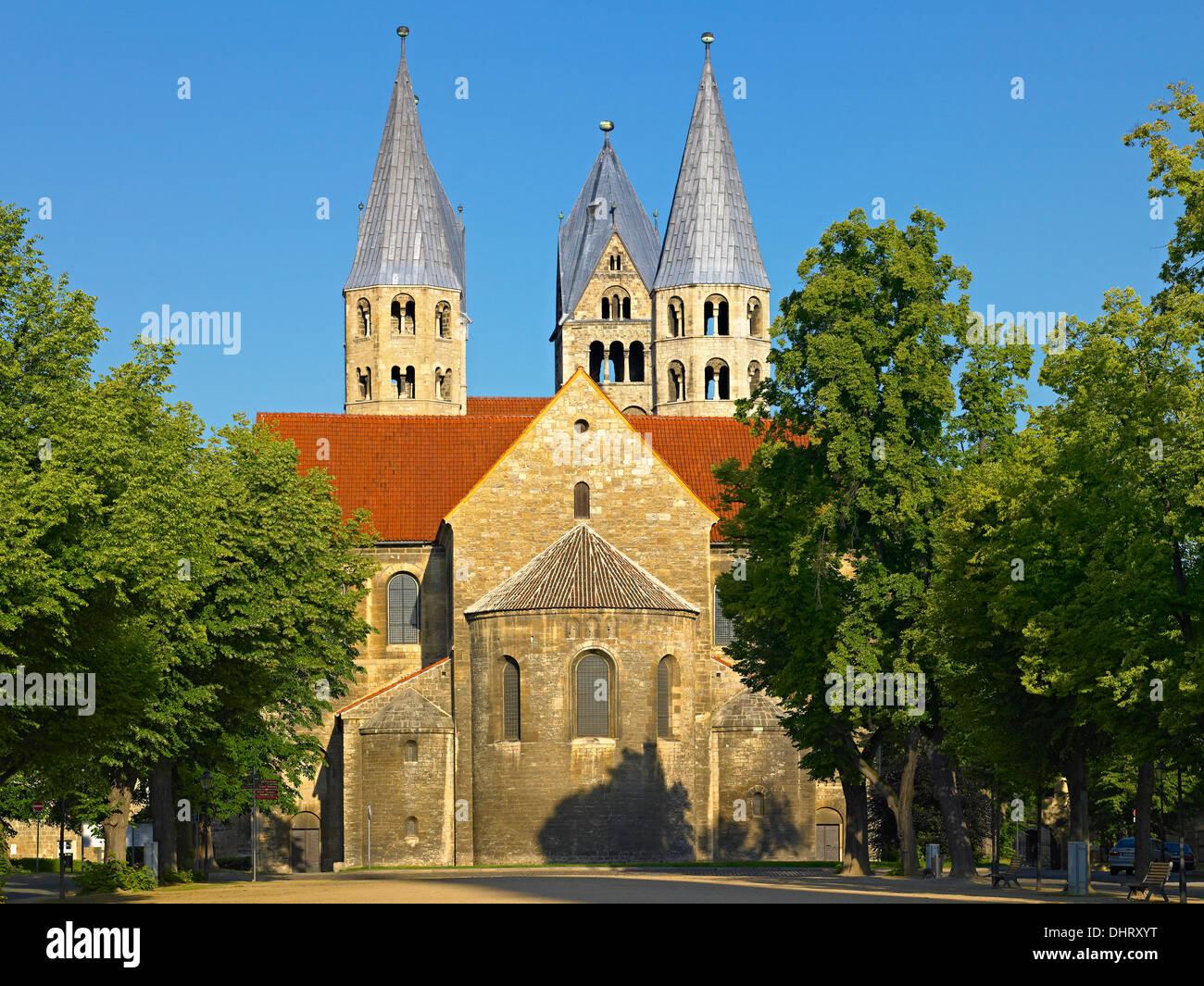 Kirche unserer lieben Frau, Domplatz Quadrat, Halberstadt, Sachsen-Anhalt, Deutschland Stockbild