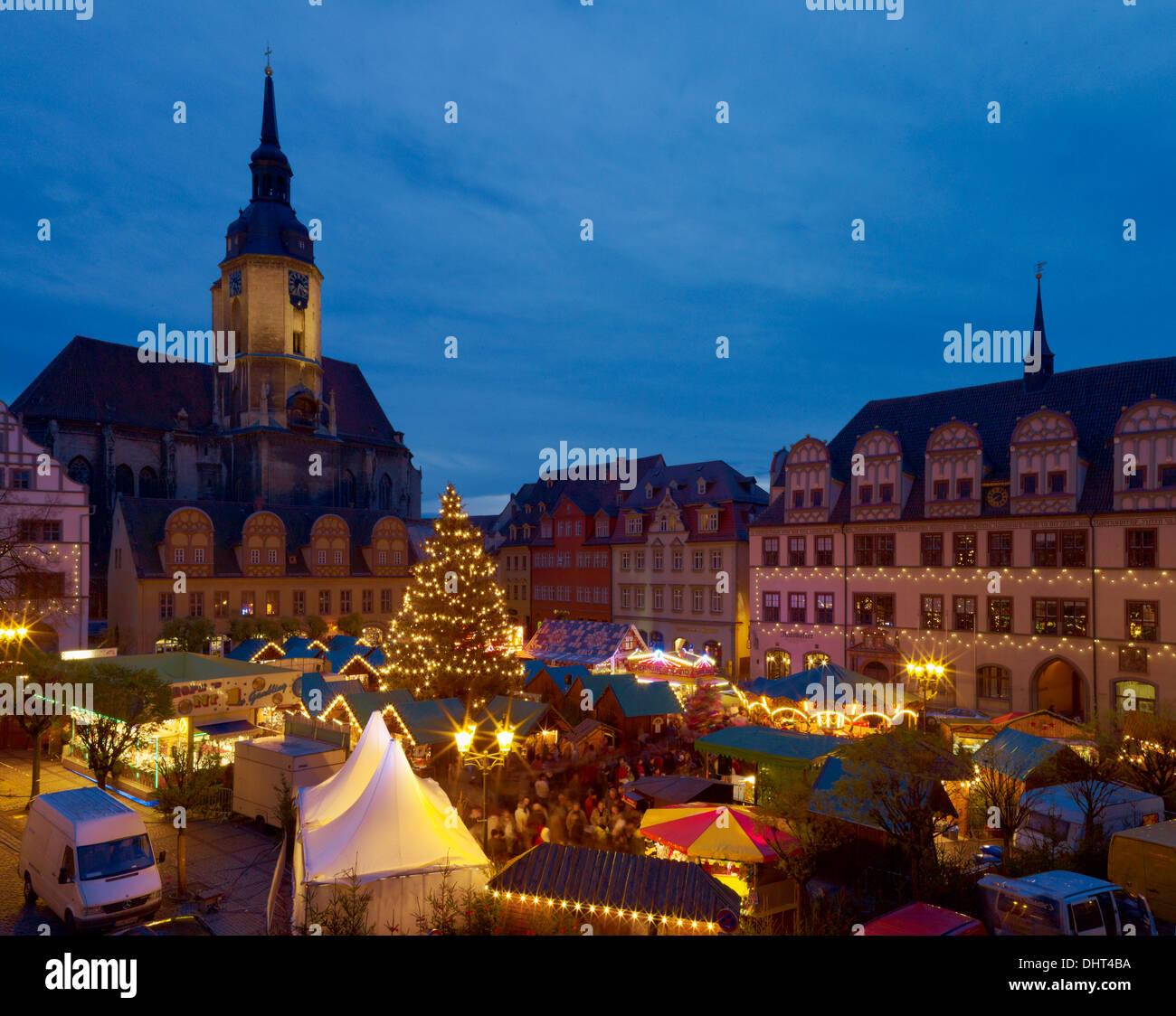 Naumburger Weihnachtsmarkt.Weihnachtsmarkt St Wenzels Kirche Und Rathaus Naumburg Saale