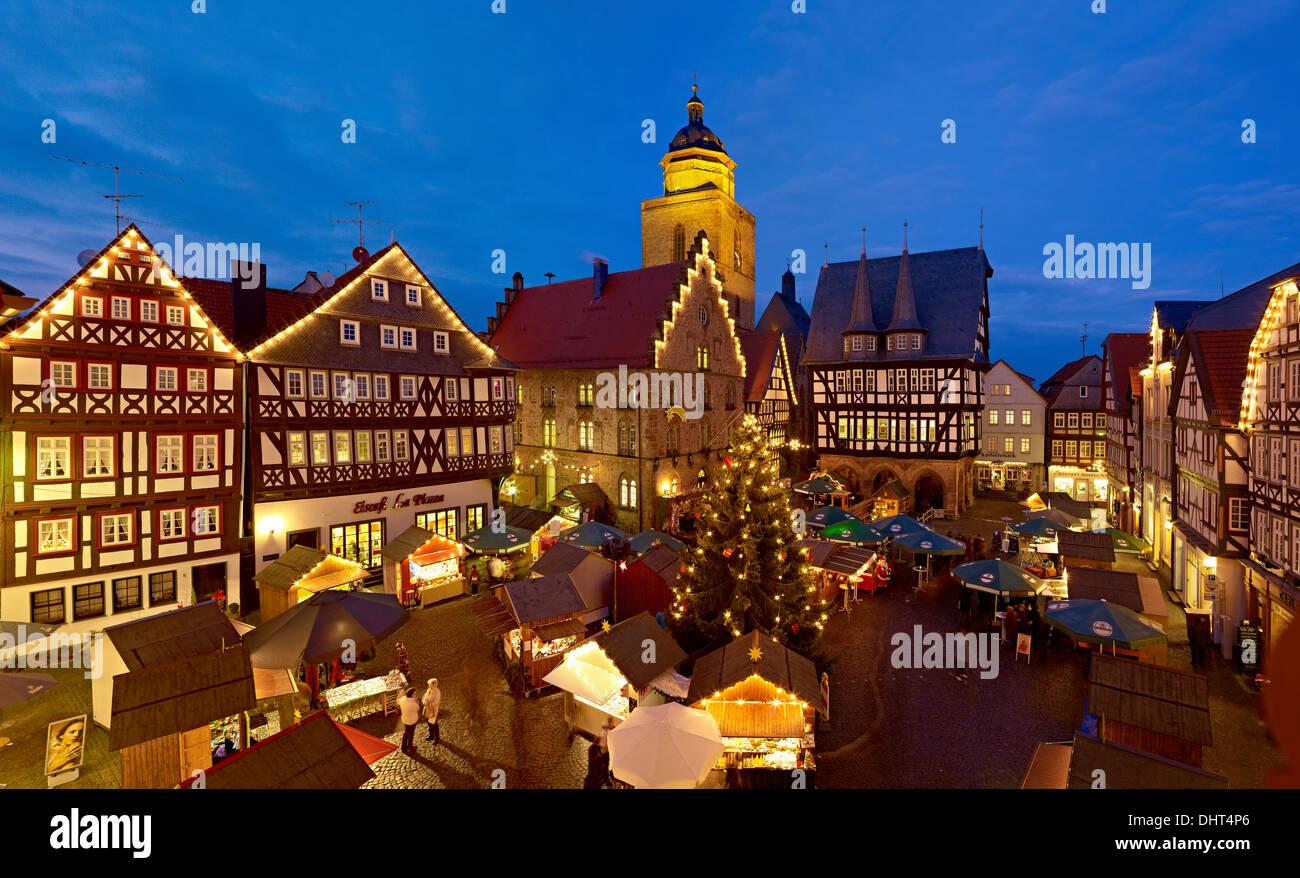 Alsfeld Weihnachtsmarkt.Christmas Market Alsfeld Hessen Deutschland Stockfoto Bild