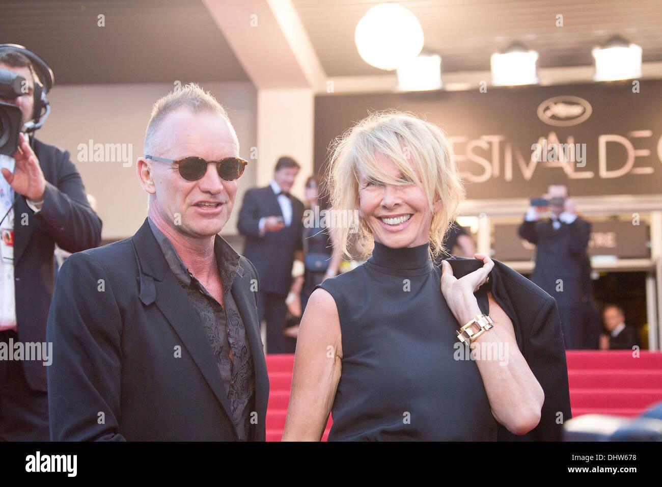 """Sting und seine Frau Trudie Styler, """"Schlamm"""" Premiere während der 65. Filmfestspiele Cannes. Cannes, Frankreich Stockfoto"""