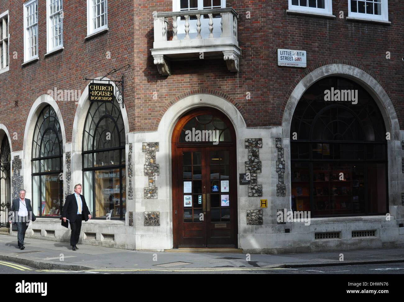 KIRCHE HAUS BUCHHANDLUNG GT SMITH STREET LONDON SW1 UK Stockbild