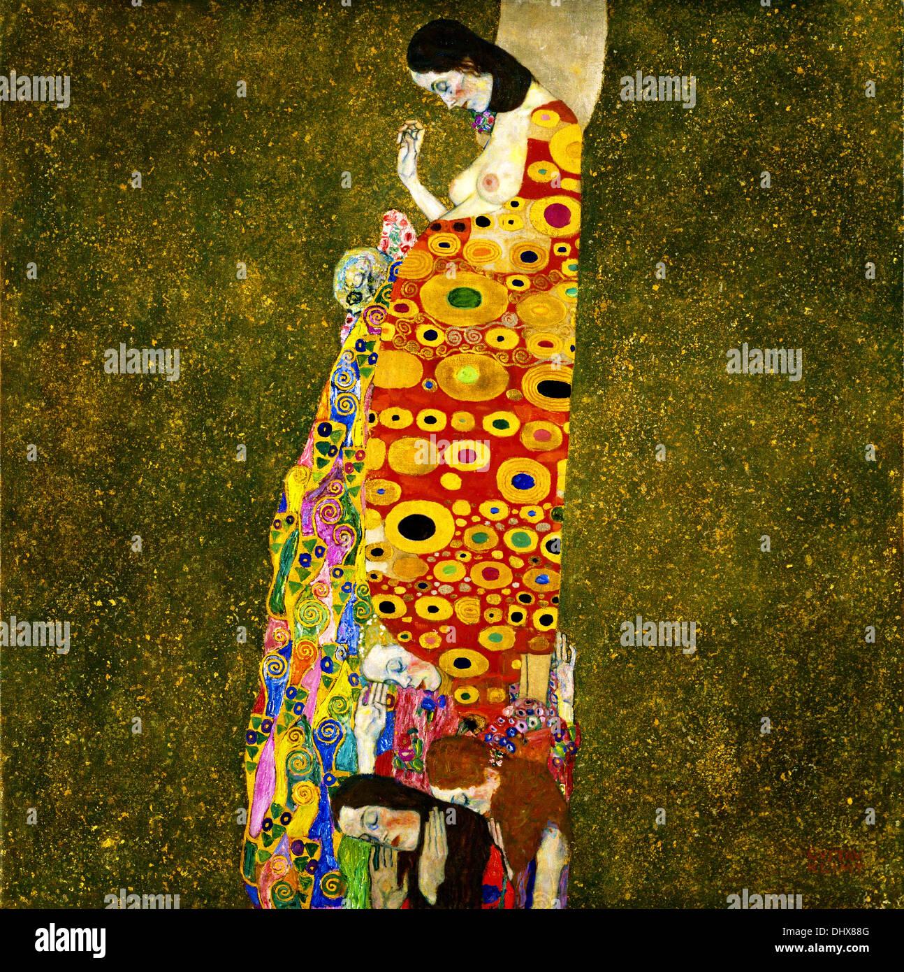 Hoffe - von Gustav Klimt, 1903 Stockfoto