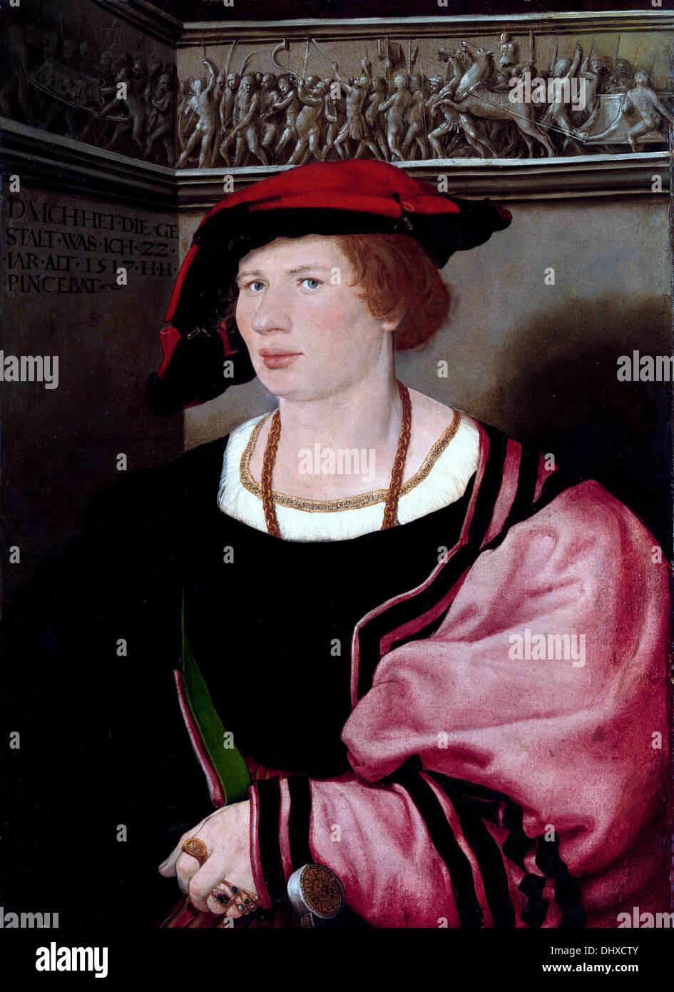 Benedikt von Hertenstein - von Hans Holbein der jüngere, 1517 Stockbild