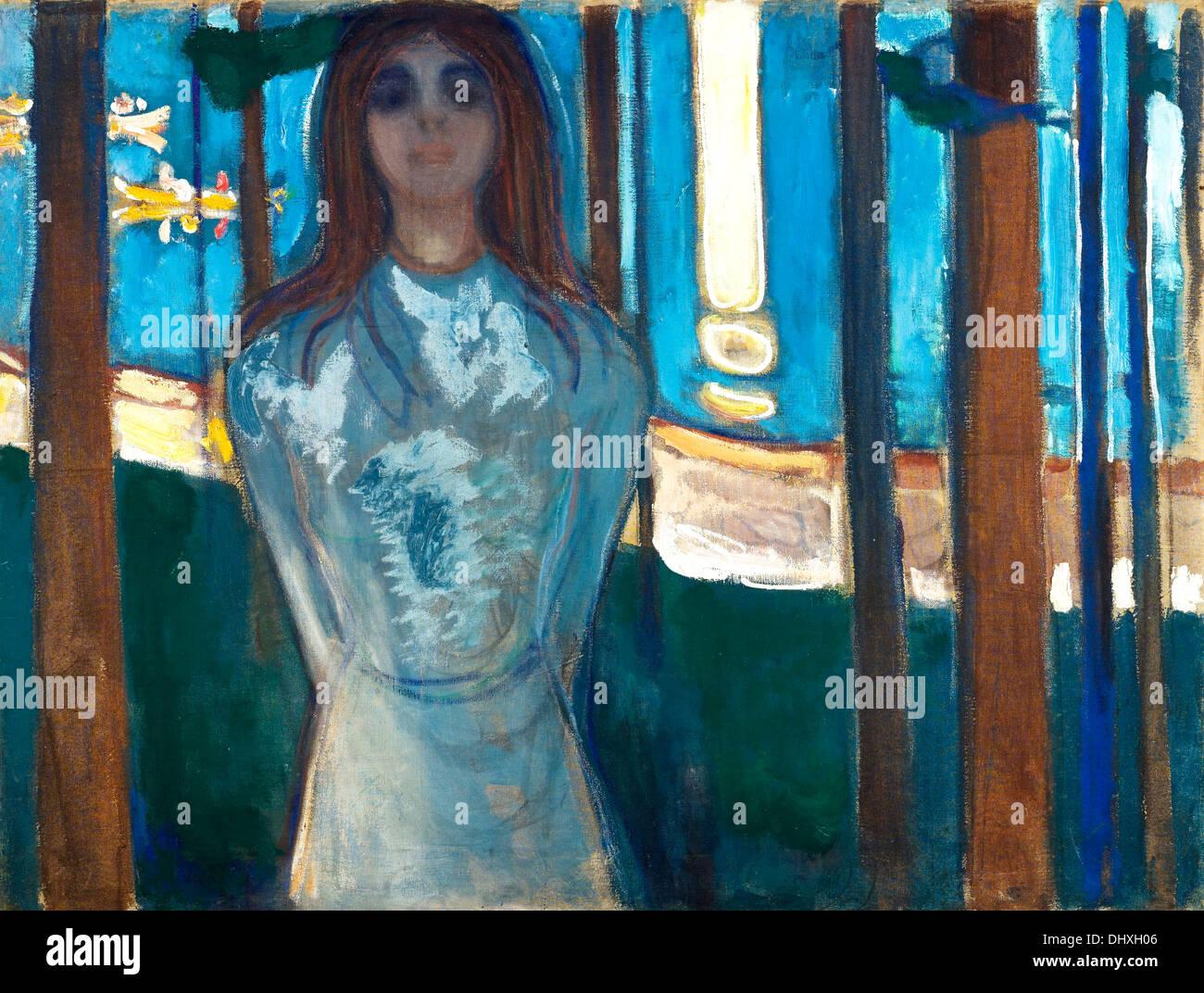 Die Stimme, Sommernacht - von Edvard Munch, 1896 Stockbild