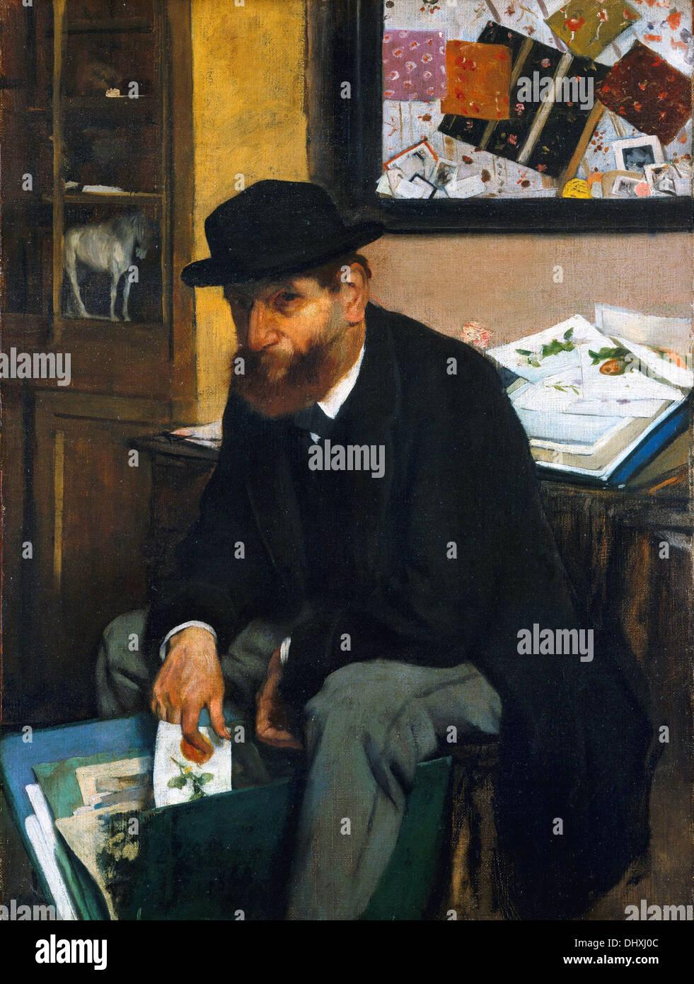 Der Kollektor des Prints - von Edgar Degas, 1866 Stockbild