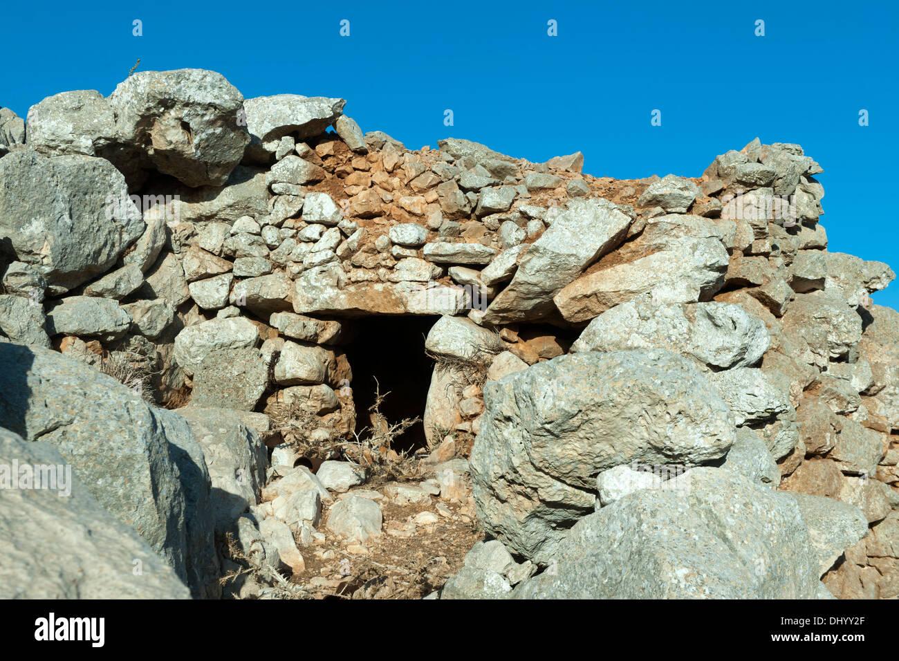 Griechenland, Dodekanes, Insel Chalki, Hirtenbehausung Stockbild
