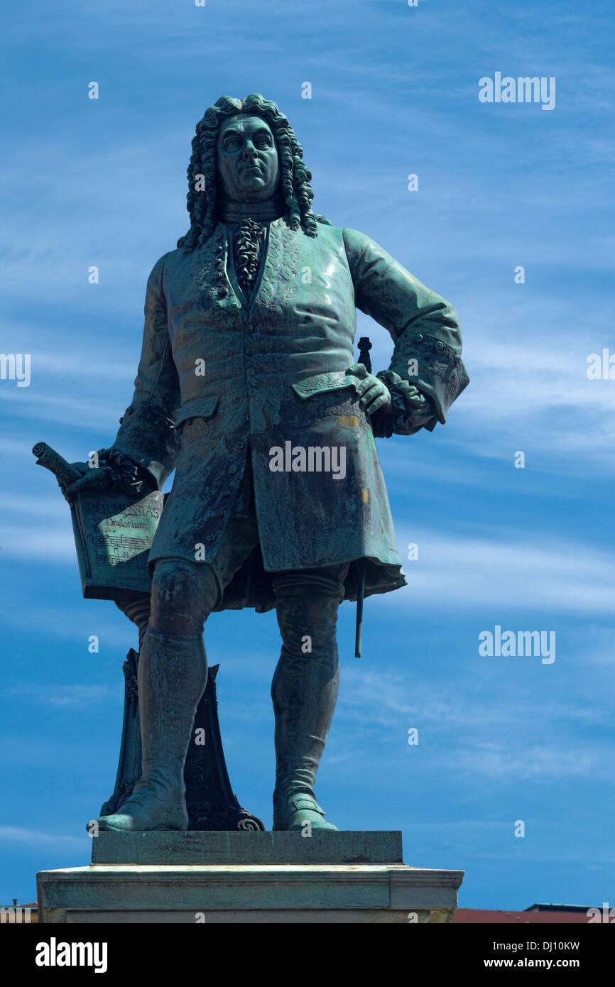 Statue von Händel, Halle/Saale, Sachsen-Anhalt, Deutschland Stockbild