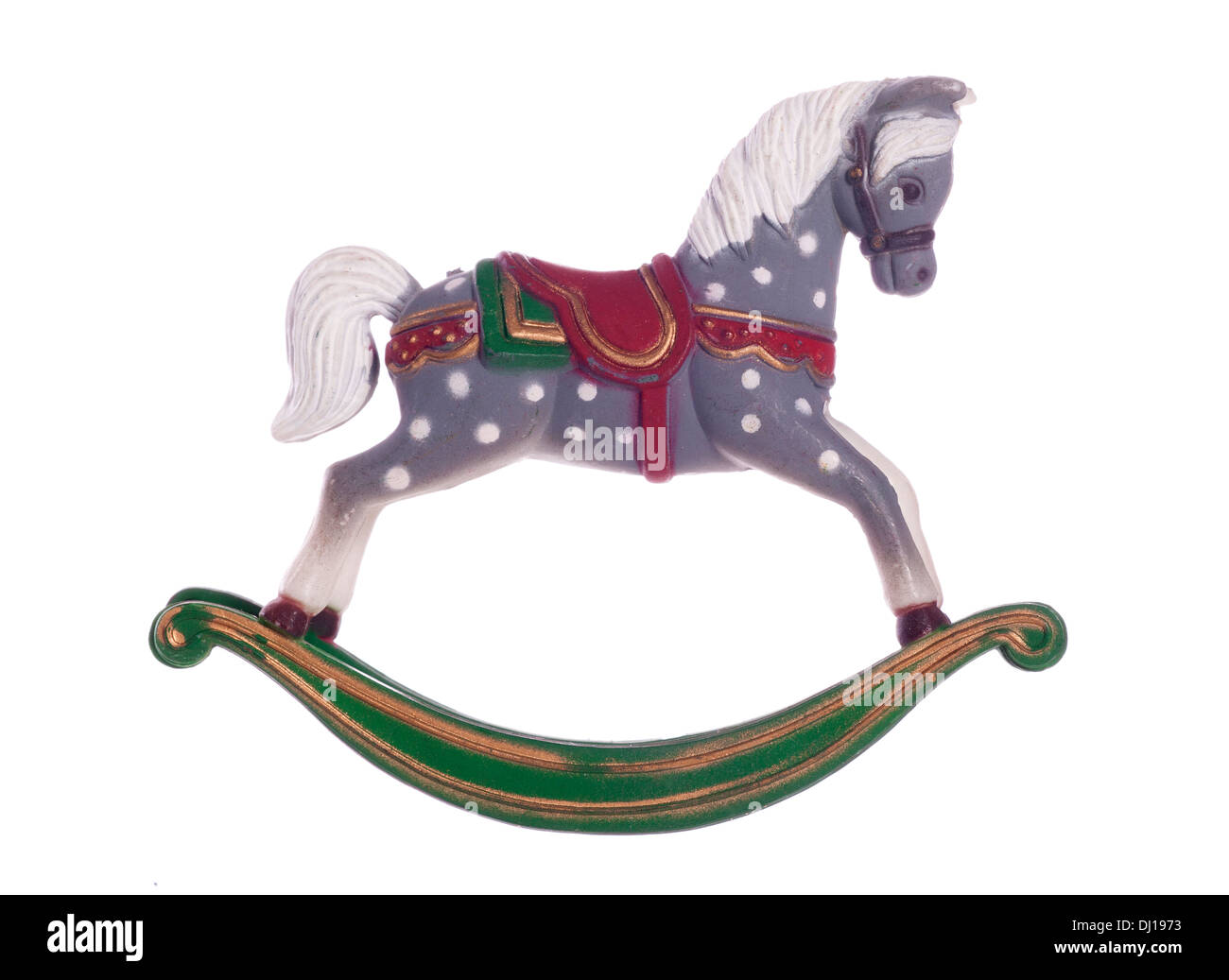 Vintage Schaukelpferd Weihnachten Dekoration Ausschnitt Stockfoto ...