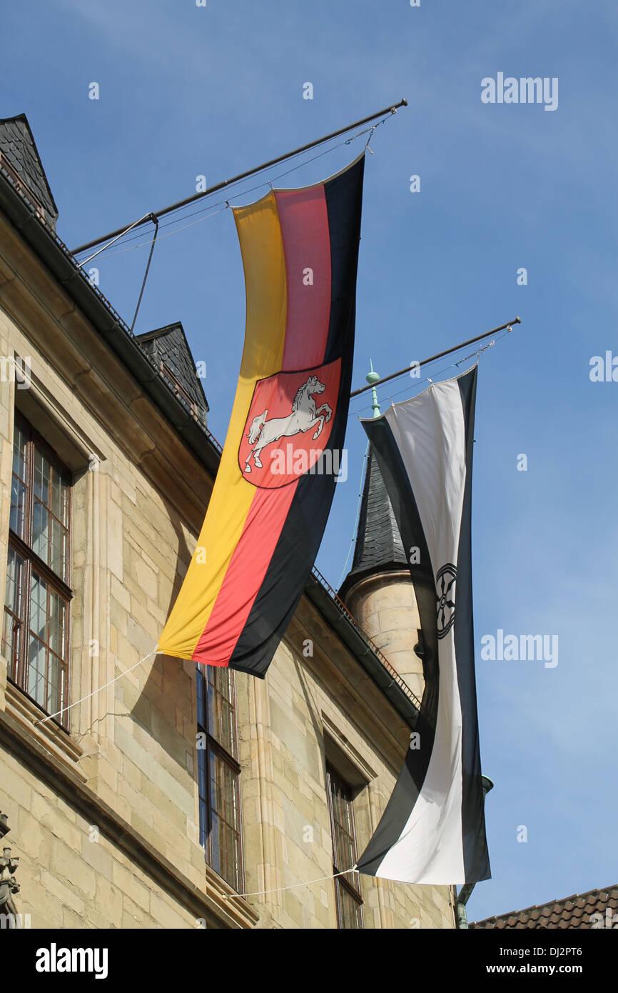 Banner von Niedersachsen und Osnabrück Stockbild