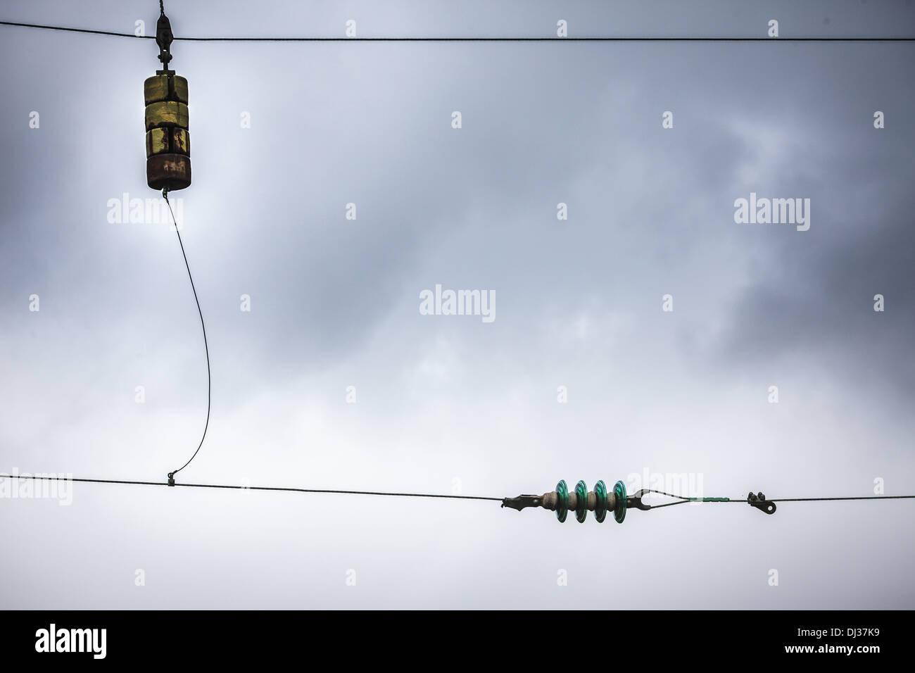 Elektroinstallation Stockbild