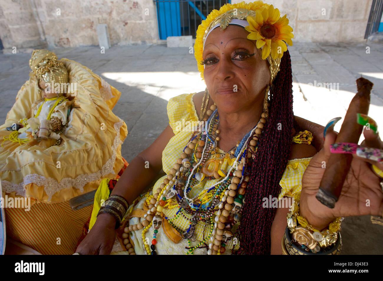 Wahrsagerin, Havanna, Kuba Stockbild