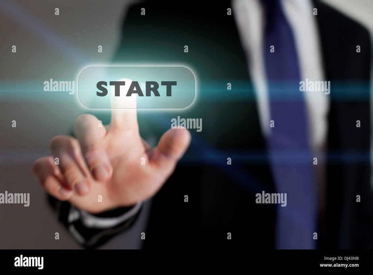 Starten Sie neue Business Konzept Stockbild