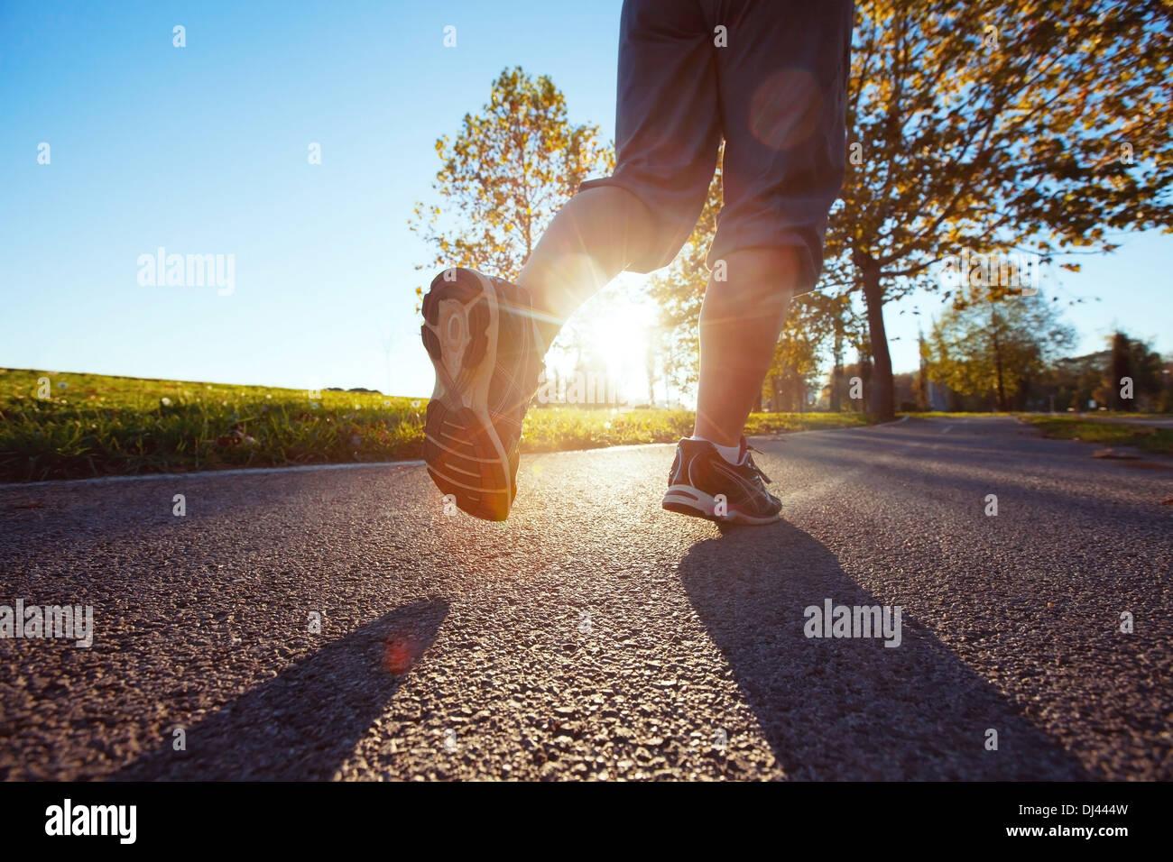 Joggen Stockbild
