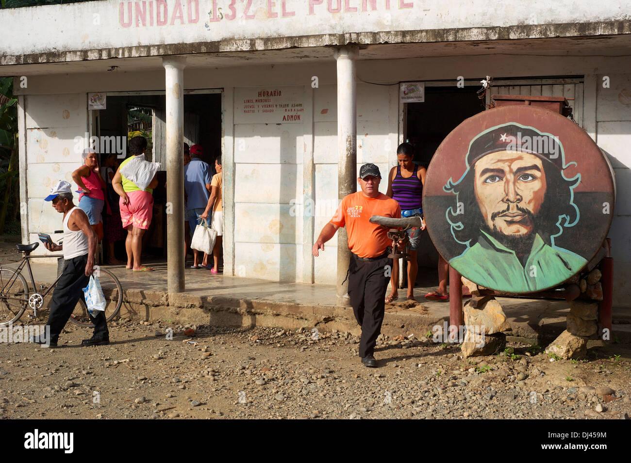 Lebensmittelgeschäft, Baracoa, Kuba Stockbild