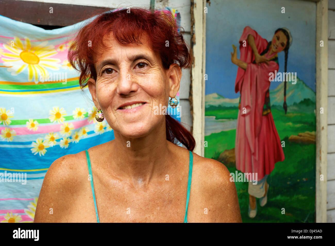 Kubanische Frau chinesischer Abstammung Stockbild