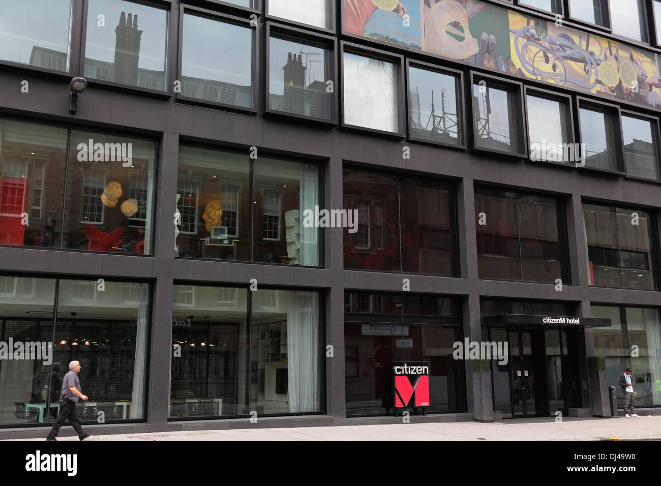 Citizen M Hotel in Glasgow City Centre, Schottland, UK Stockbild