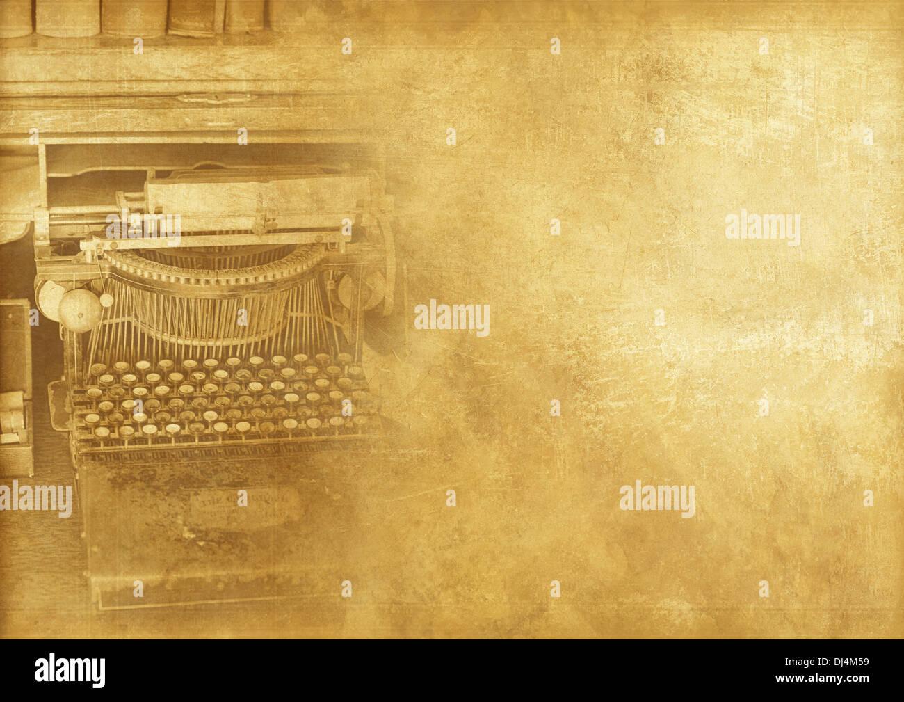Alte Schreibmaschine Maschine Vintage Hintergrund Vintage