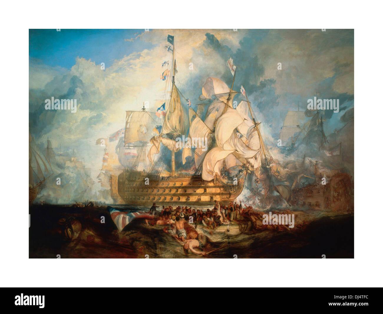 Battle of trafalgar painting stockfotos & battle of trafalgar