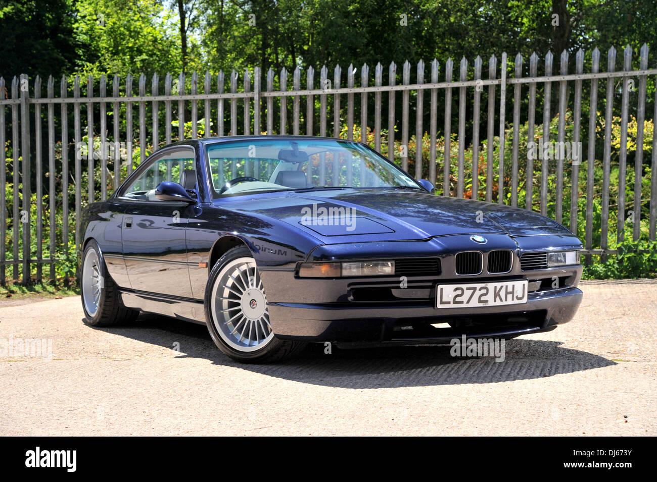 1993 BMW 850i Deutsch V8 Super Coupe Jetzt Einen Oldtimer Stockbild