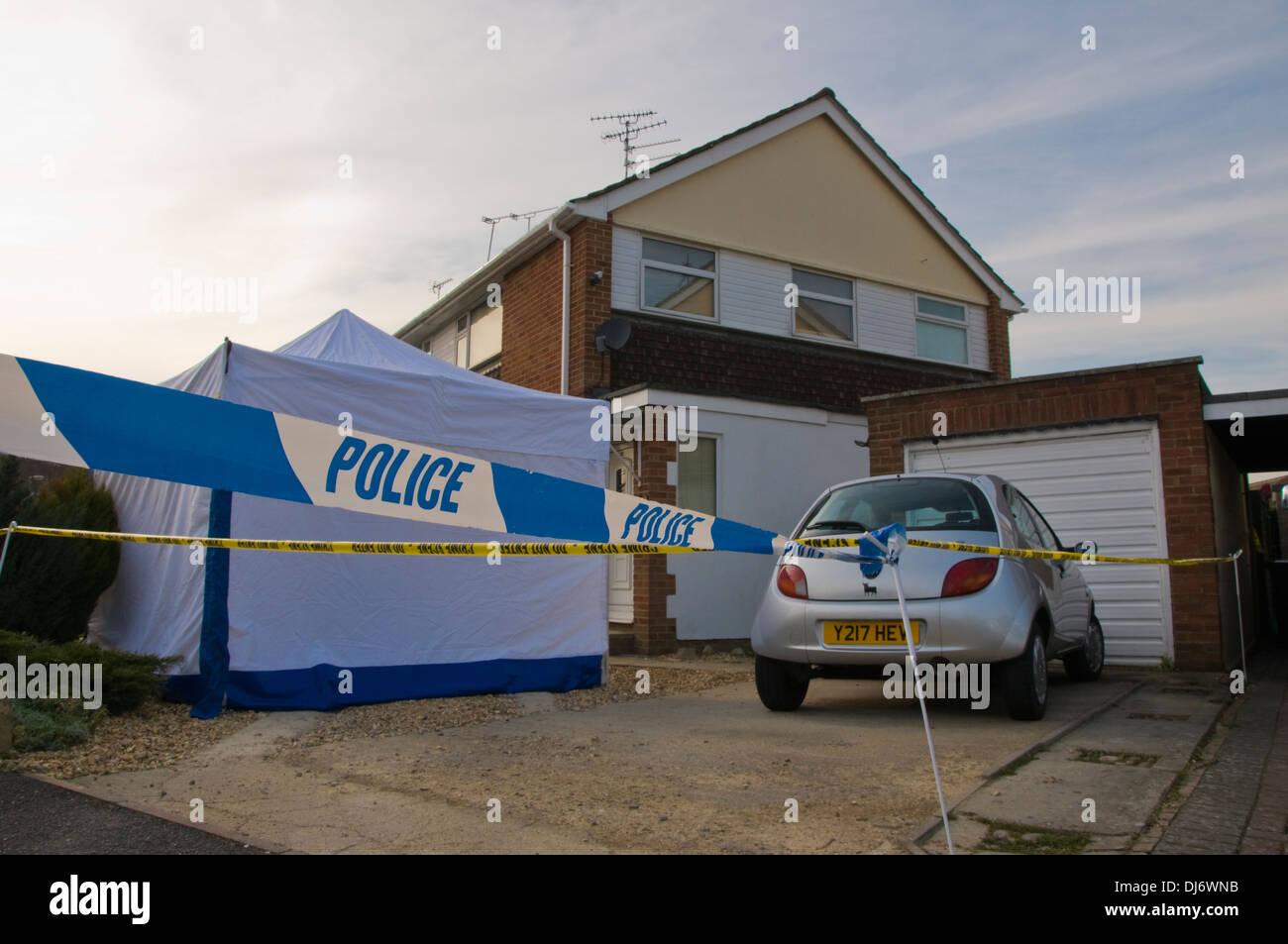 Polizei-Tatort im Vereinigten Königreich Stockbild