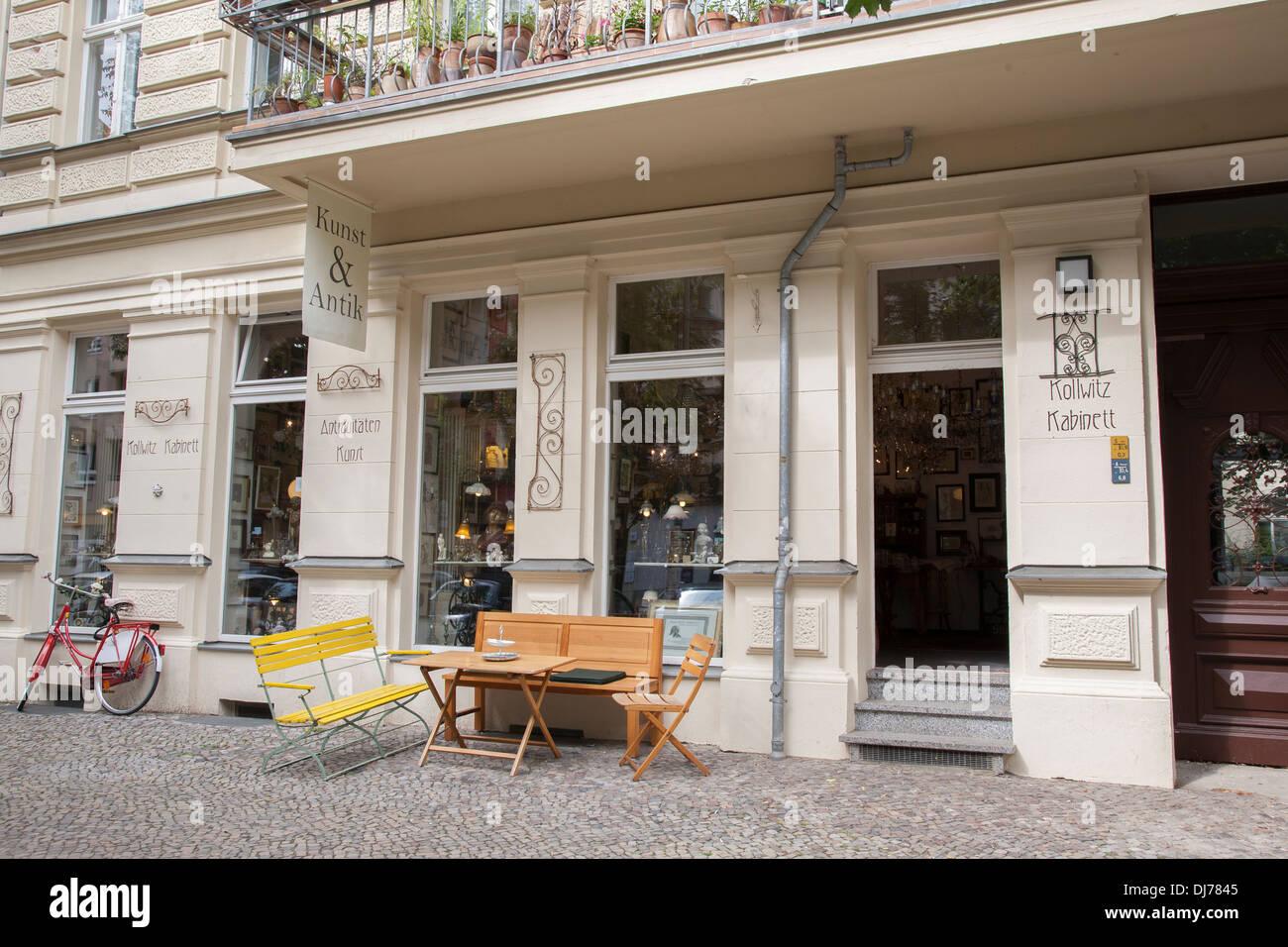 Kunst Antiquitäten Shop Prenzlauer Berg Nachbarschaft Berlin