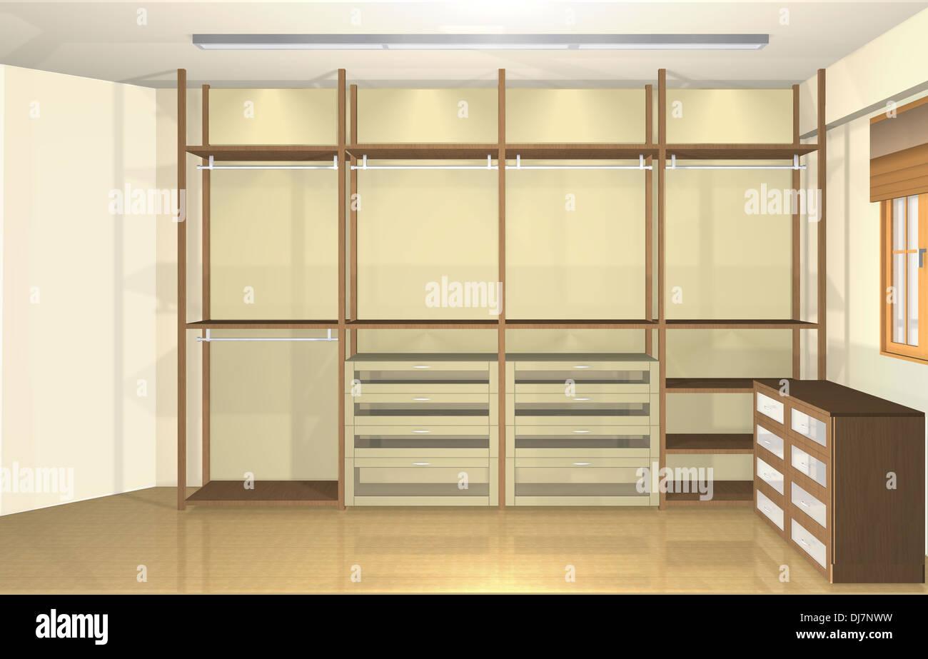 3D Inneneinrichtung, Moderne Ankleidezimmer