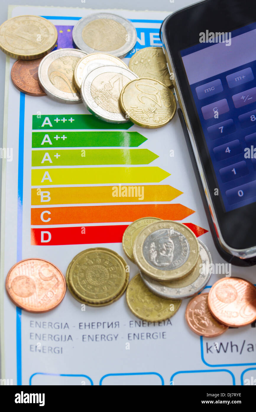 sparen durch Energie-Effizienz-Konzept Stockbild