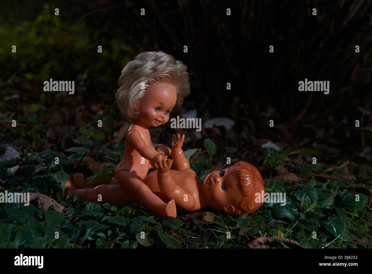 Junge Babys haben Sex