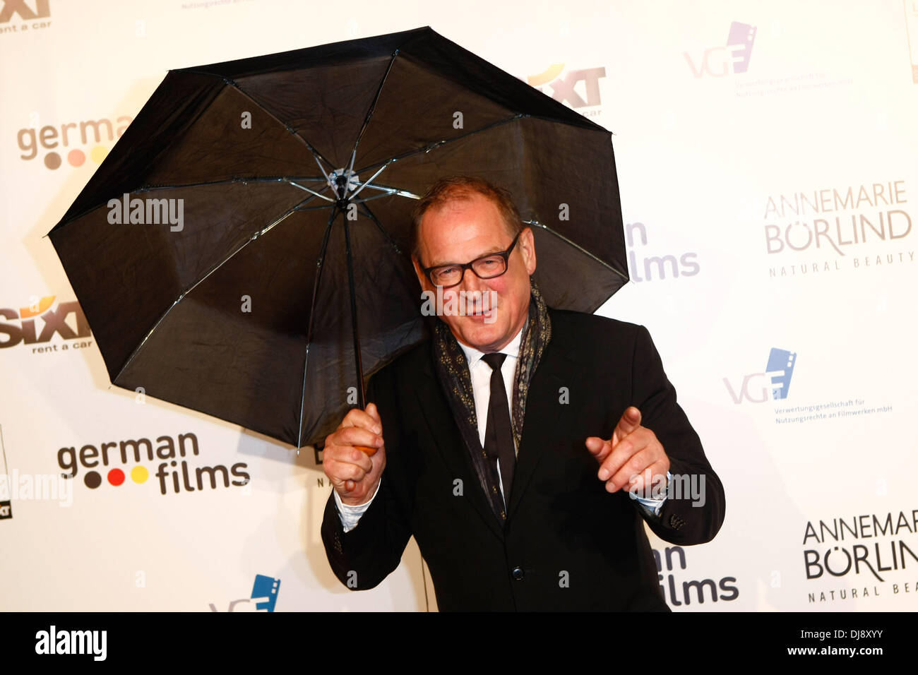 Burghart Klaußner an der deutschen Rezeption während der 65. Filmfestspiele von Cannes. Cannes, Frankreich - 21.05.2012 Stockbild