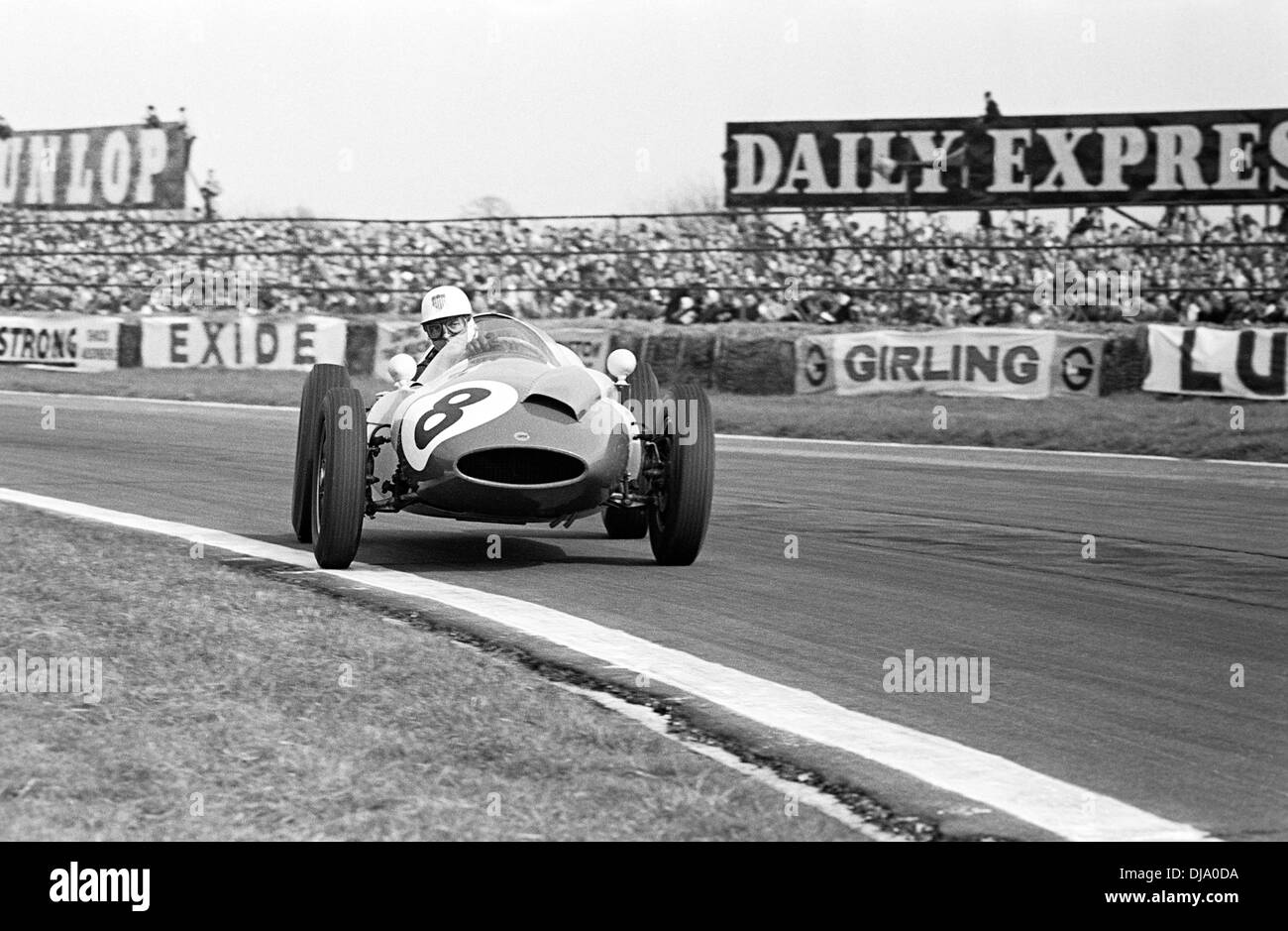 Harry Schell in dem Yeoman Credit-Team Cooper T51 Climax Madgwick Goodwood, England Ostern Montag, 18. April 1960. Stockbild