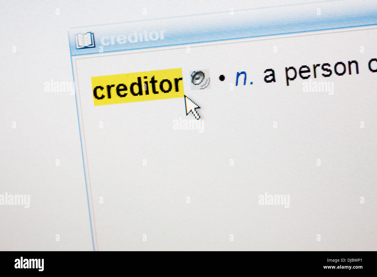 Page In A Dictionary Stockfotos & Page In A Dictionary Bilder - Alamy