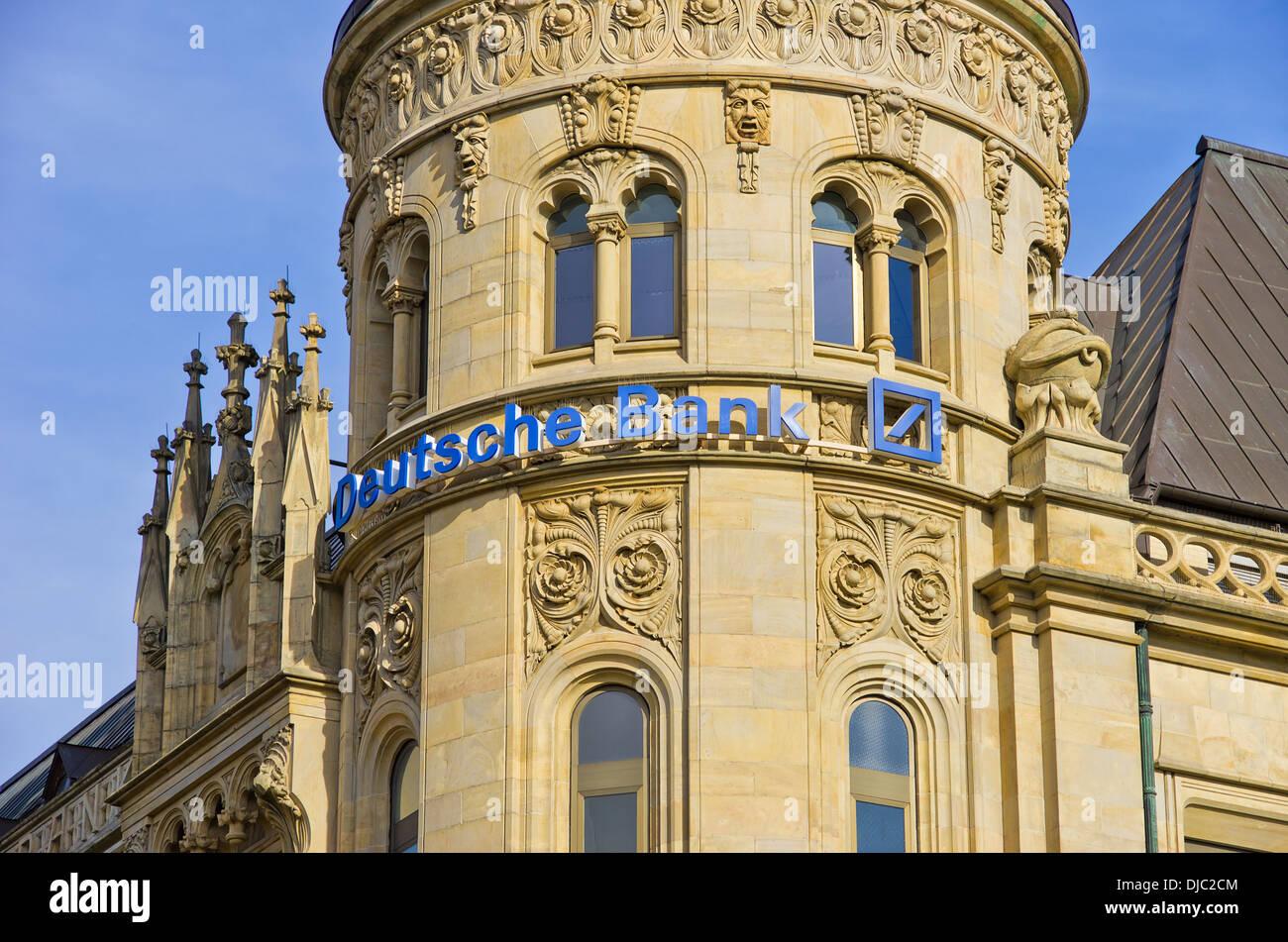 Gebäude Der Hannoversche Bank Heute Sitz Der Deutschen Bank Auf Dem