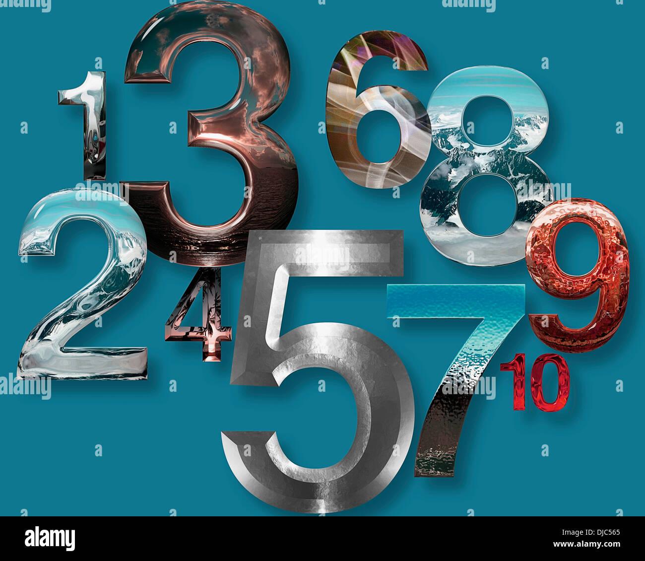 Grafikdesign: Numb3rs Stockbild