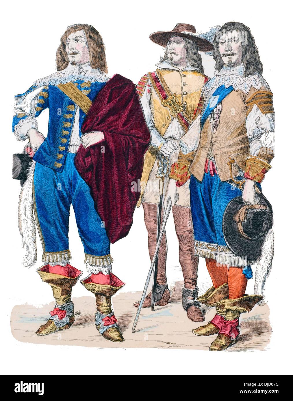 17 Jahrhundert Bild Architektur: 17. Jahrhundert XVII Der 1600er Englischen Adeligen Kostüm