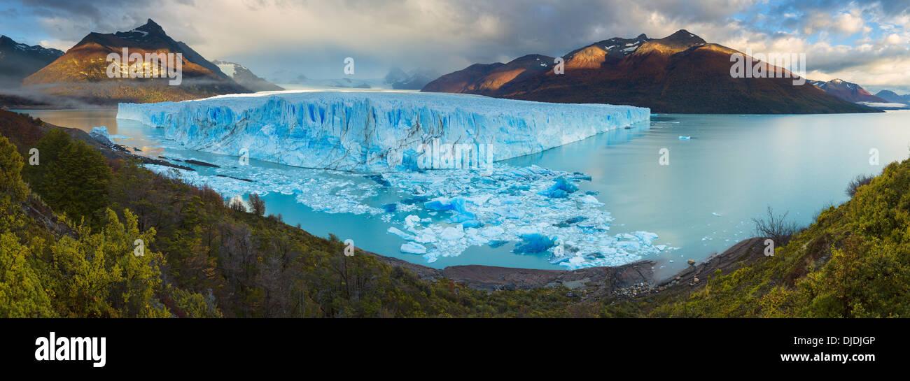 Panoramablick über den Perito Moreno Glacier.Patagonia.Argentina Stockbild