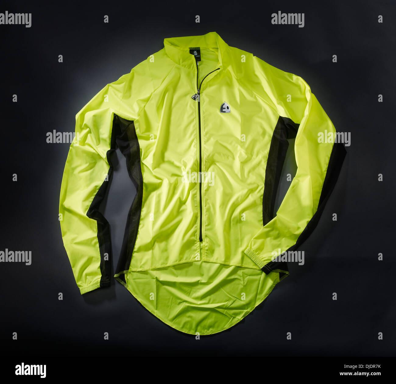 Leichte Regenjacke Radsport Stockbild