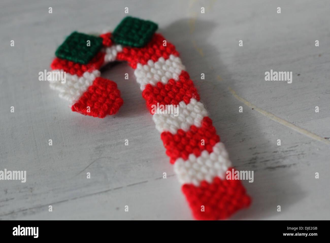 Eine Häkeln Weihnachten Zuckerstange Stockfoto Bild 63004267 Alamy