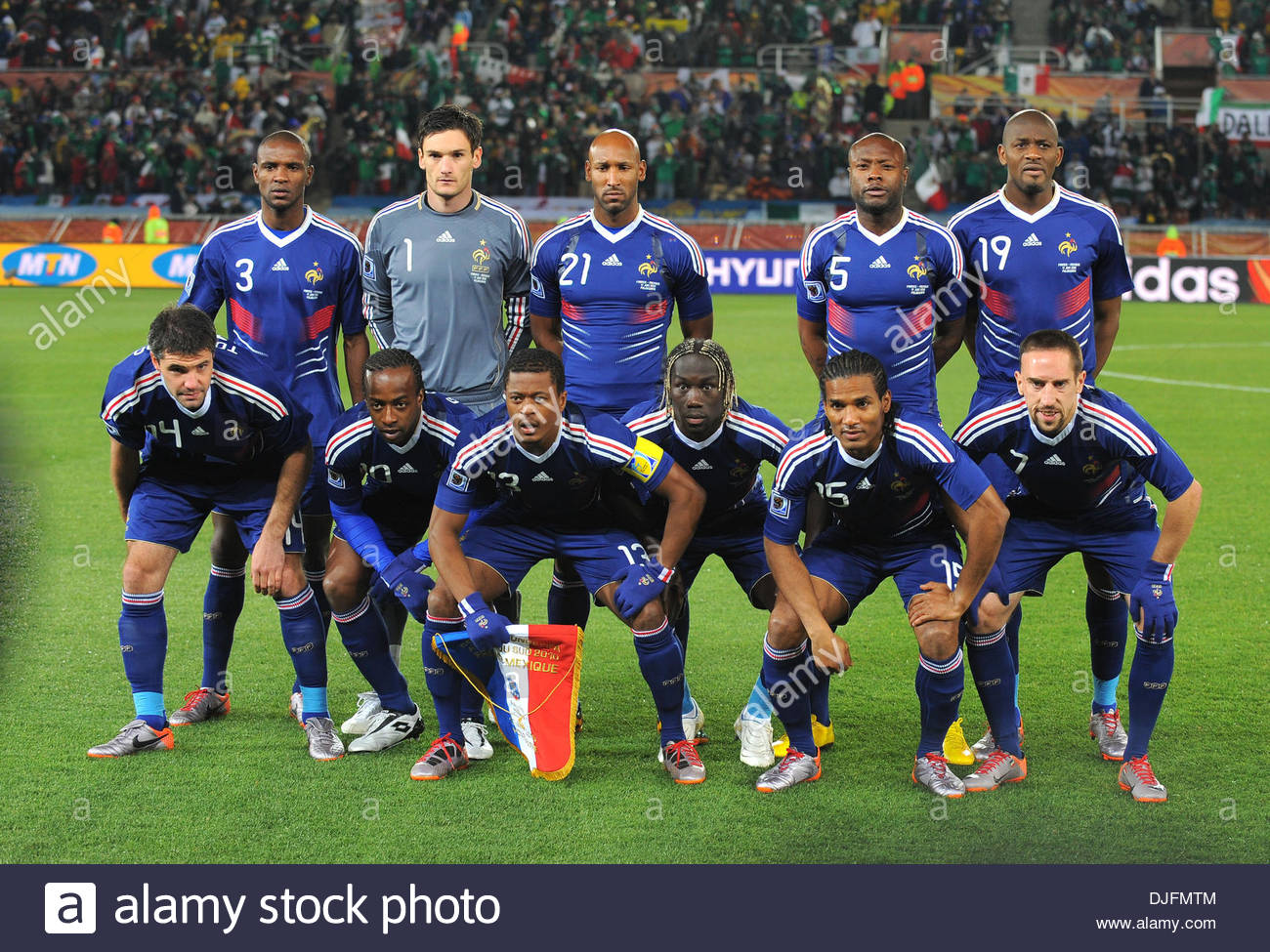 Französisch Teamgruppe Fifa Wm 2010 Gruppe A Frankreich Mexiko