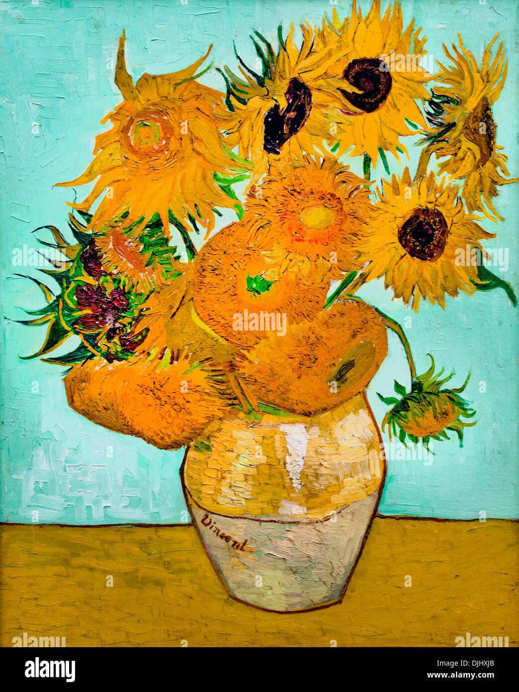 Sonnenblumen 1888 Vincent Van Gogh 1853 1890 Niederlande Niederlande