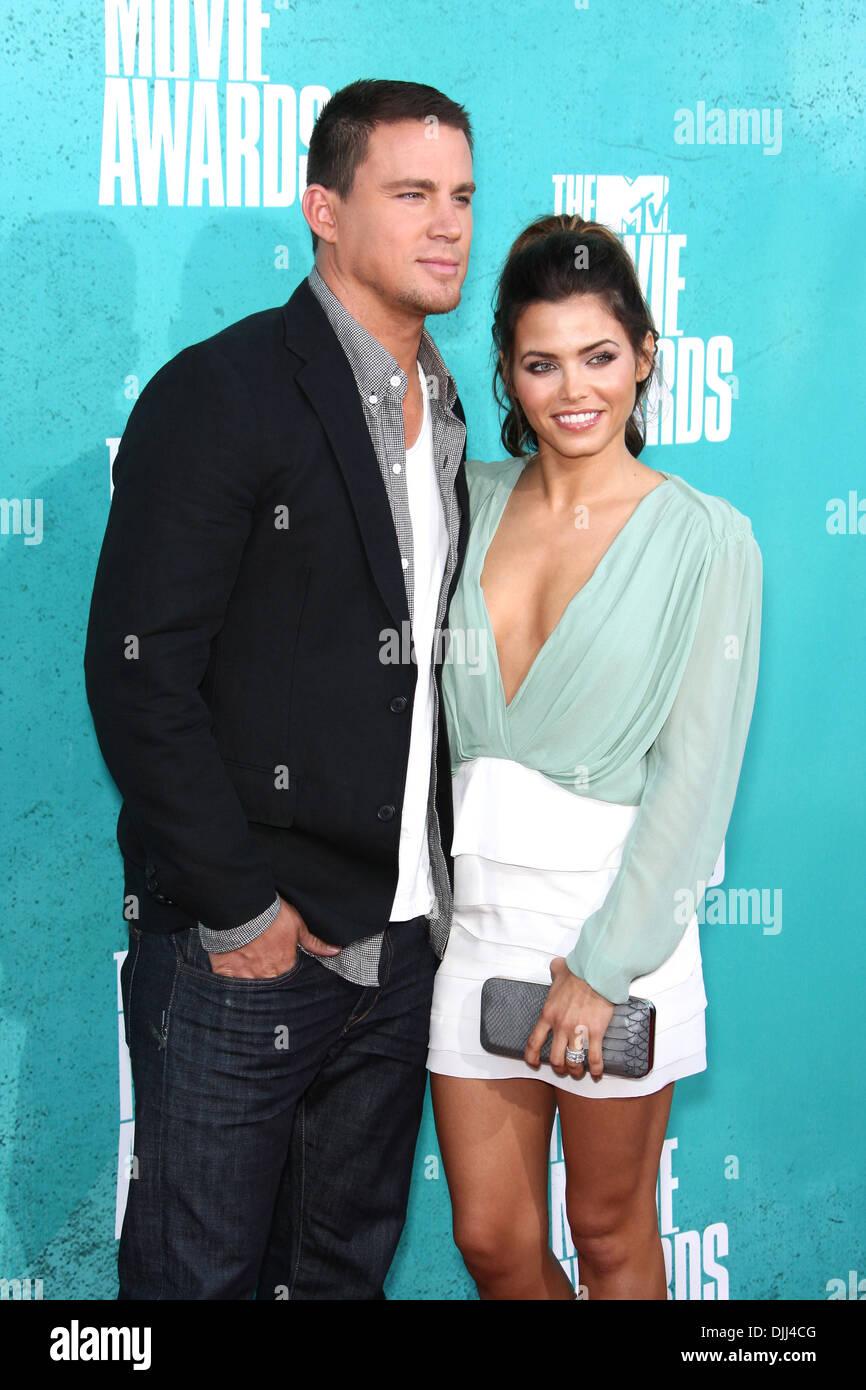 Channing Tatum und seine Frau Schauspielerin Jenna Dewan Tatum MTV Movie Awards in den Universal Studios - Ankünfte Universal City Stockbild