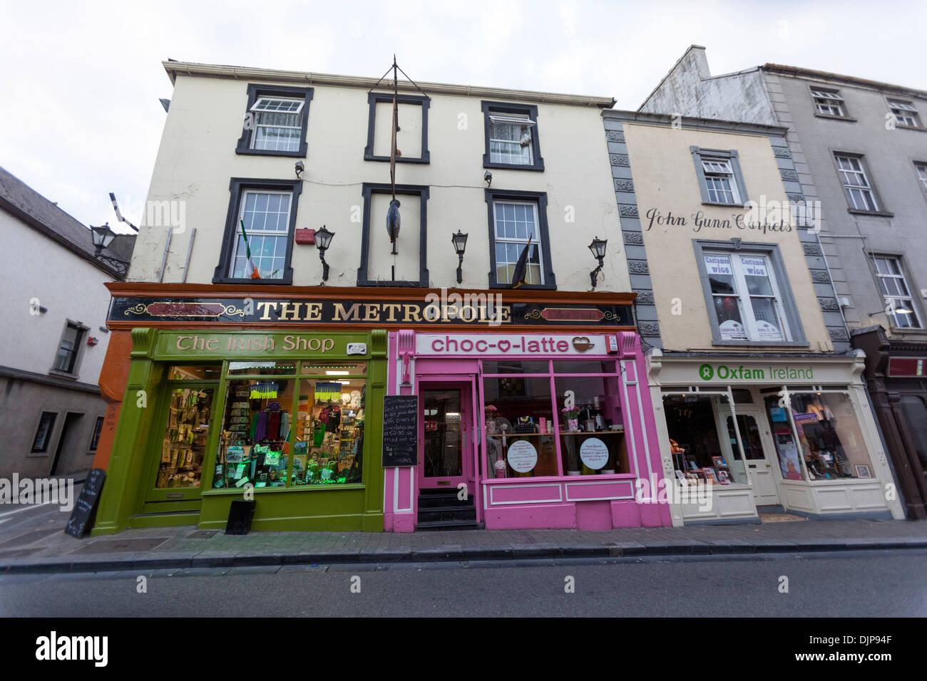 "Kilkenny High Street. ""Metropole"" Stockbild"
