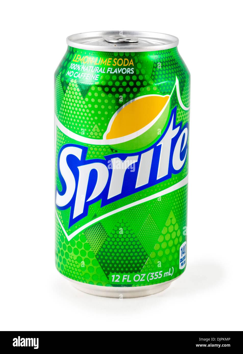 Dose Sprite Limonade, USA Stockbild