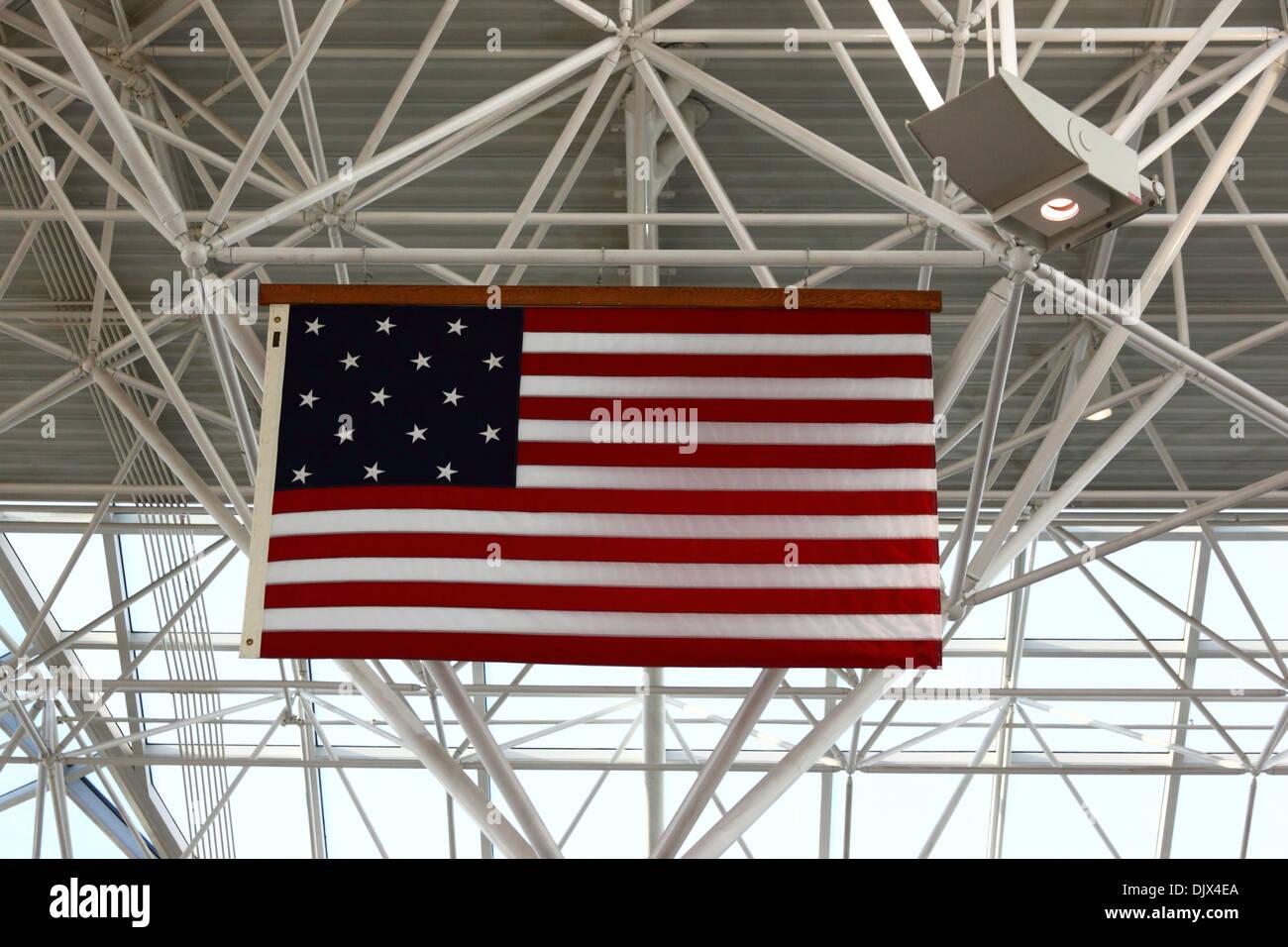 Amerikanische Flagge mit 15 Sternen und Streifen (der Stern Spangled ...