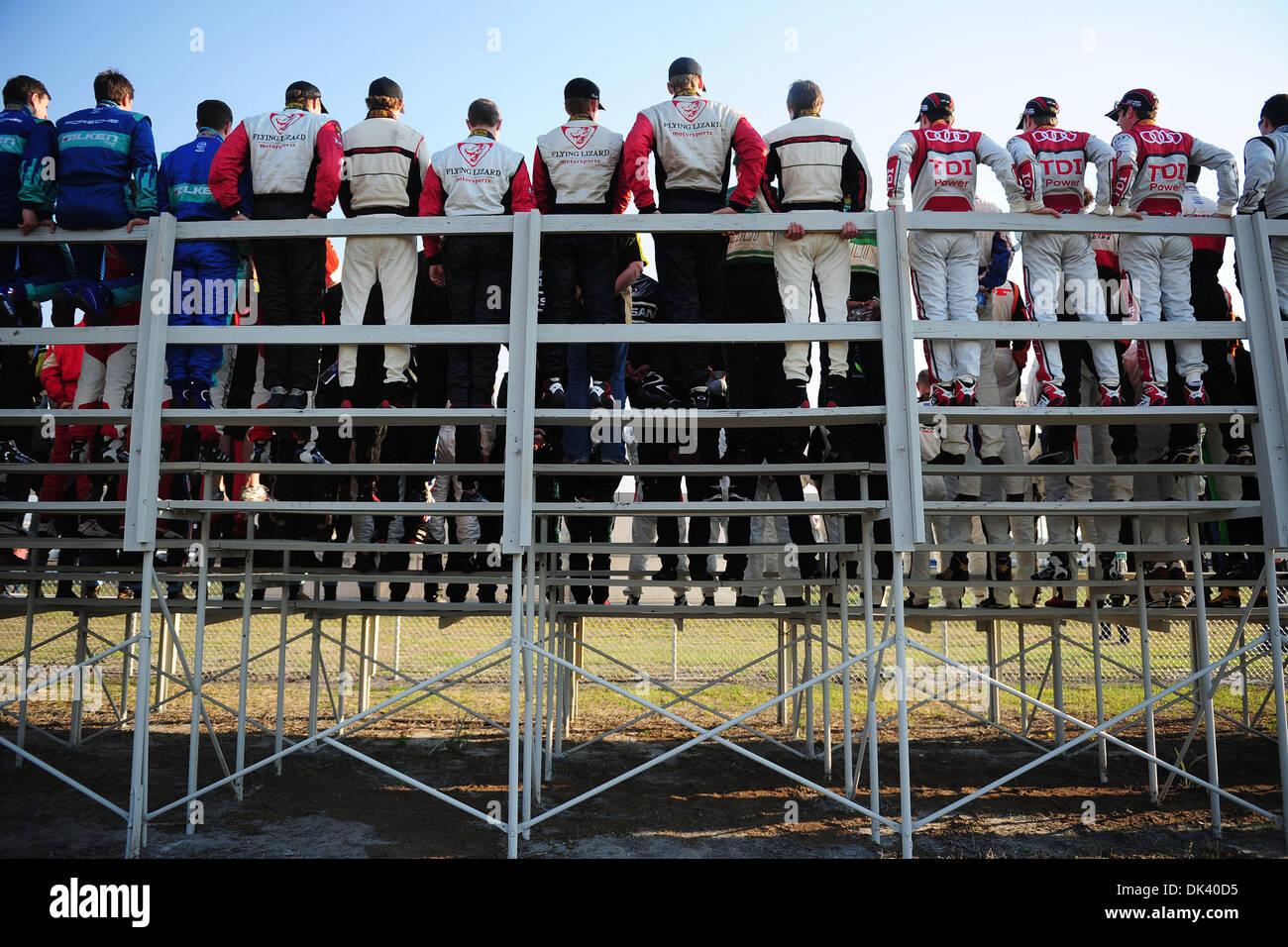 15. März 2011 - Sebring, Florida, USA - die Treiber für das Fotoshooting posieren, vor diesem Wochenende 12 Stunden Stockfoto
