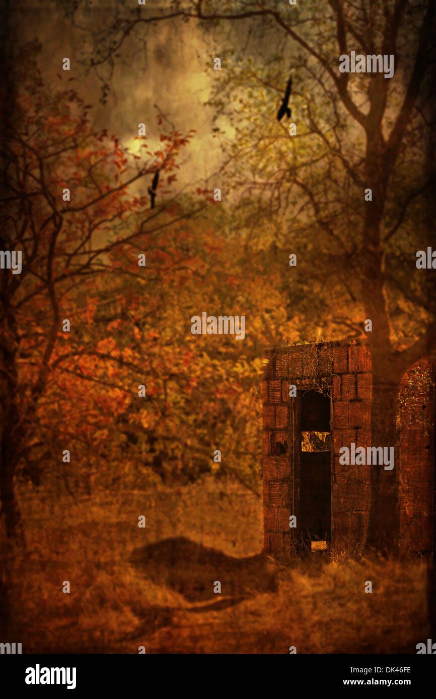 Verlassenen unheimliche Haus Stockbild