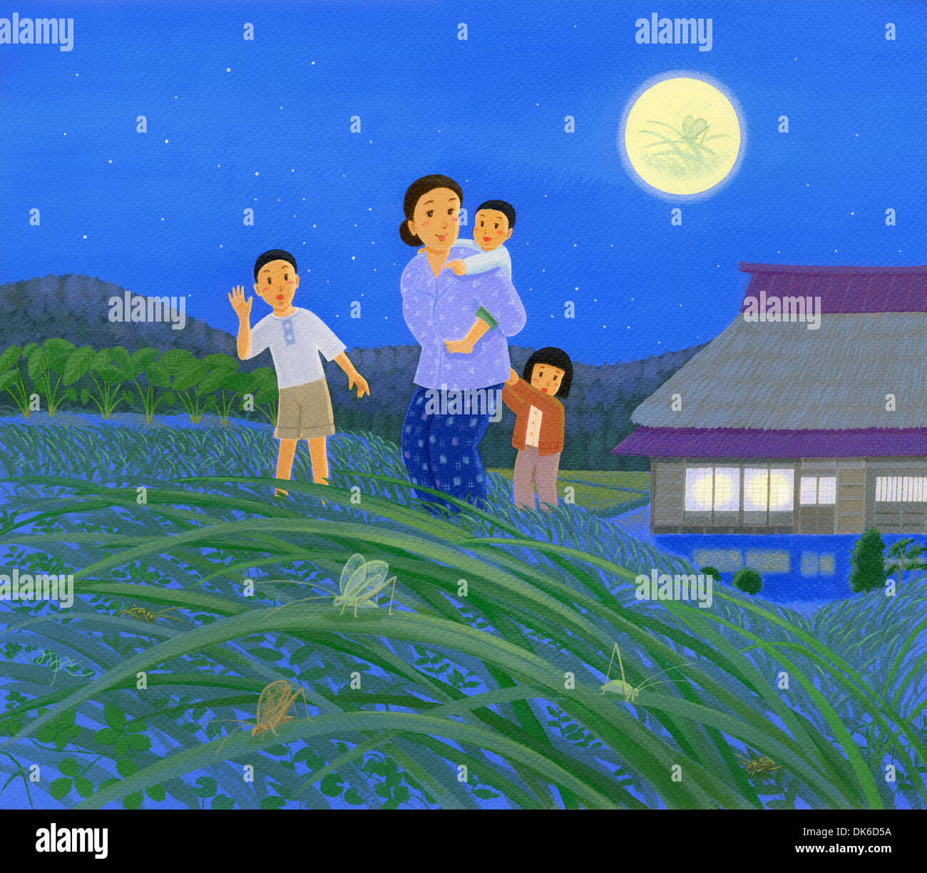 Japanische Traditionen und Jahreszeiten ich Stockbild