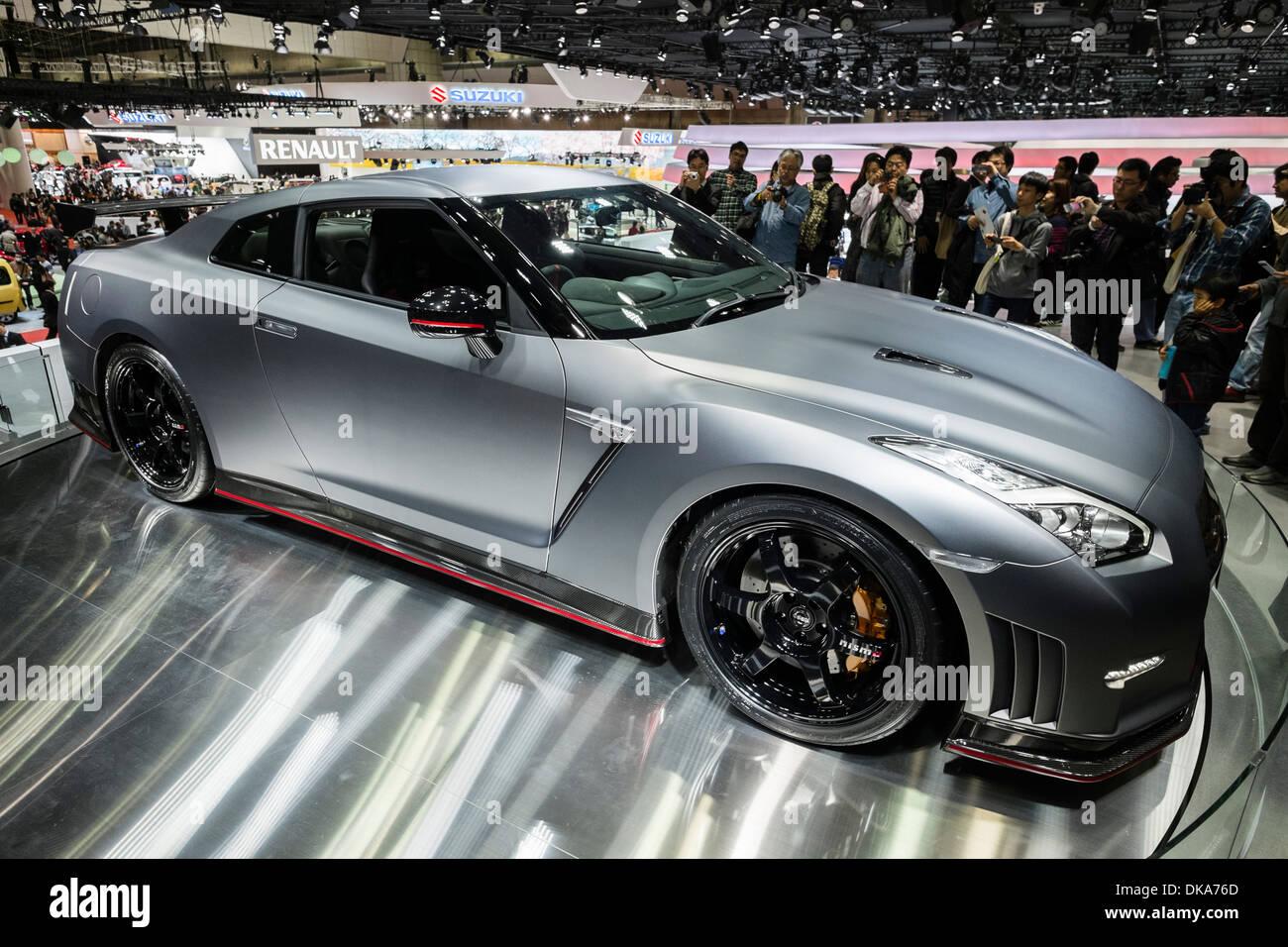 Nissa GT-R Nismo-Hochleistungs-Auto auf der Tokio Motor Show 2013 in Japan Stockbild